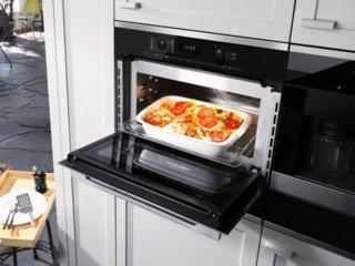 Возможность установки формы для пиццы KITPLATE в микроволновых печах SMEG